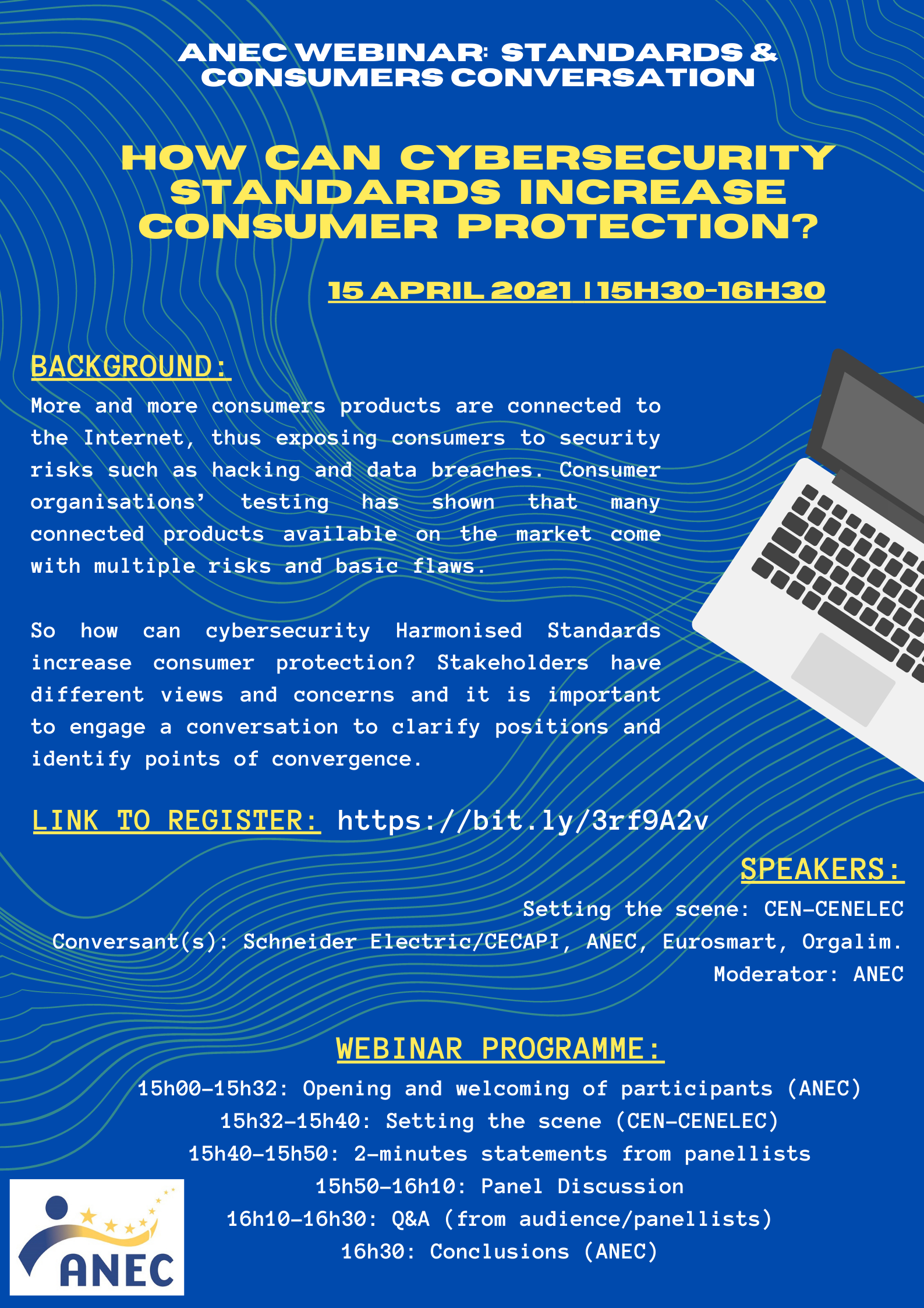 ANEC Webinar How can cybersecurity standards increase consumer protection 15 April